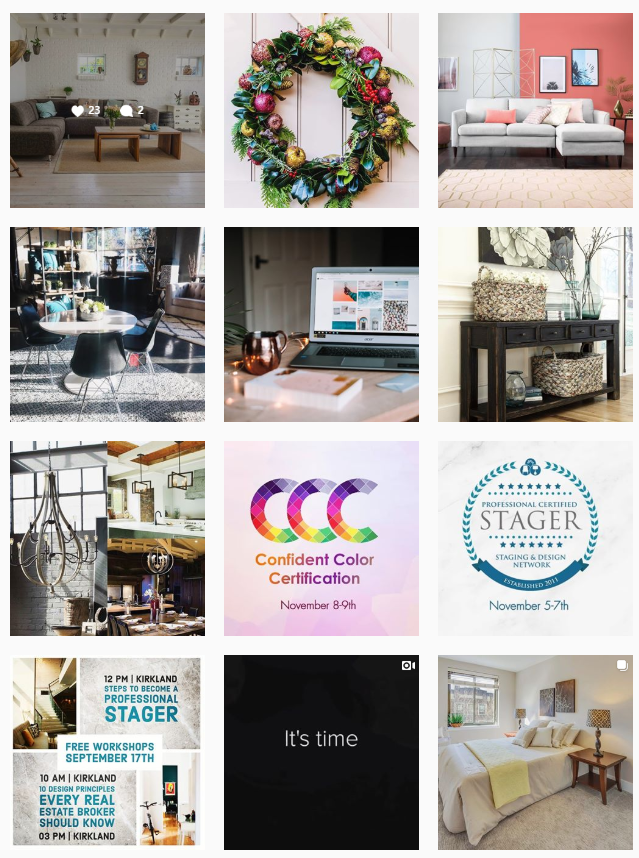 Staging Design Instagram